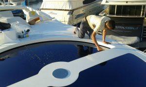 Tintado de lunas barcos, laminas proteccion solar mallorca